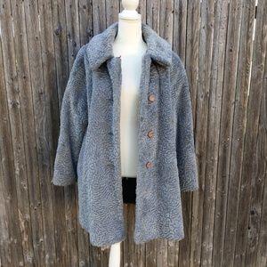 Komitor Vintage Union Made Fux Fur Coat Size XL